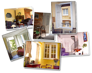Suite picture collage of the Suites in France.